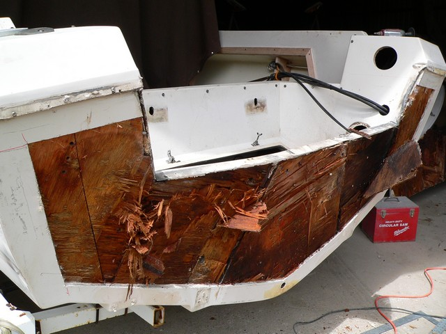 Rotted Stringer, Core and Transom Repair - West Bay Boat Works